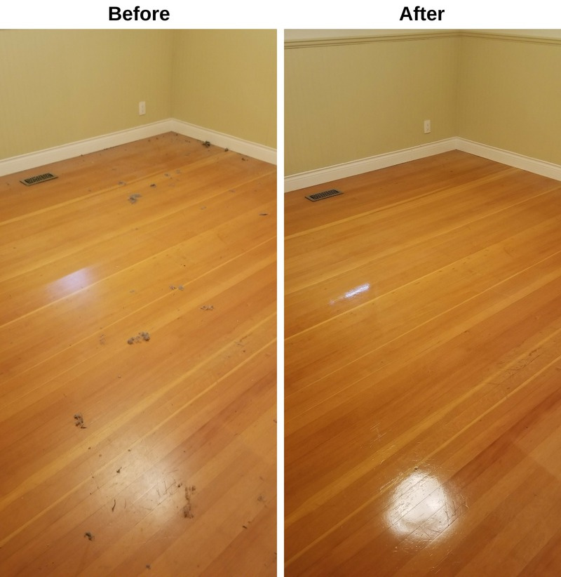 Hardwood Floor Before and After